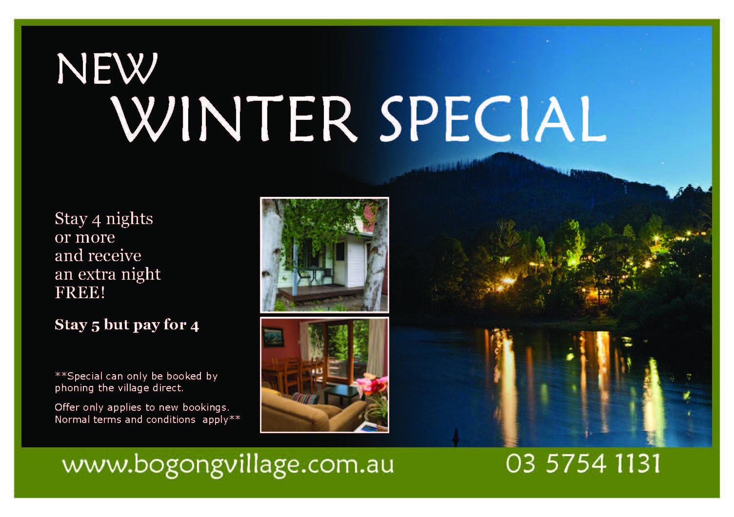 new winter special deals for accommodation near falls creek
